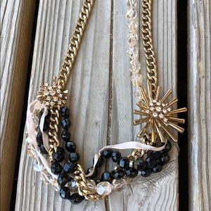 Fab J Crew Mixed Media Crystal Starburst Necklace!